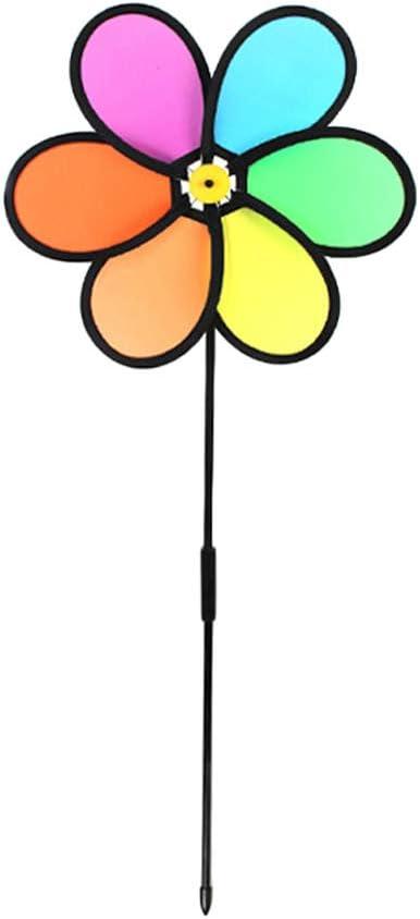 lafyHo Patio Colorido del Arco Iris del Viento Spinner Flor Molino Jard/ín Jard/ín Decoraci/ón de Exteriores ni/ños de Juguete