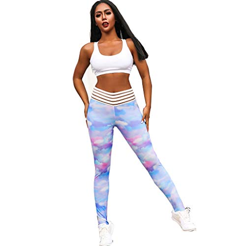 Mnyycxen Women Workout Pants, Print Leggings Fitness Sports Gym Running Yoga Pants Athletic Leggings