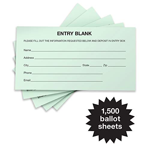 Entry Form - 1500 Entry Forms - Includes 15 Blank Raffle Ticket Pads - Perfect for Contest Entry Forms, Raffles, Ballots, Giveaways, Leads, Drawings (Green)