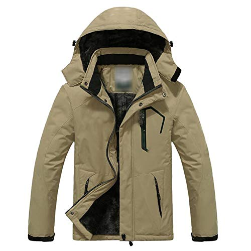 EWGIHU DLLL HQESNI New Winter Jacket Men Velvet Warm Windproof Parka Mens Waterproof Outdoorsports -