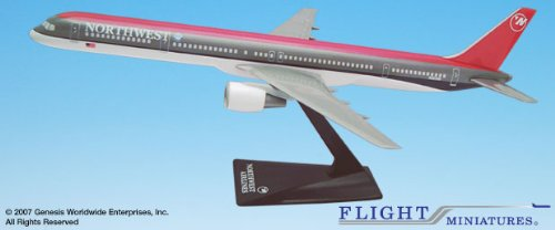 Flight Miniatures Northwest Airlines NWA 1989 Boeing 757-200 1:200 Scale Display Model