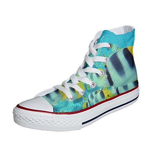 Converse All Star zapatos personalizados (Producto Artesano) peces de colores