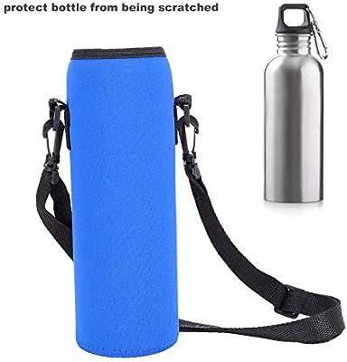 Estuche para Botellas de Agua, Deportes al Aire Libre, Botella de Agua, Soporte térmico, Bolsa para Honda, Funda Scald-Proof Funda con Correa(Azul): Amazon.es: Deportes y aire libre