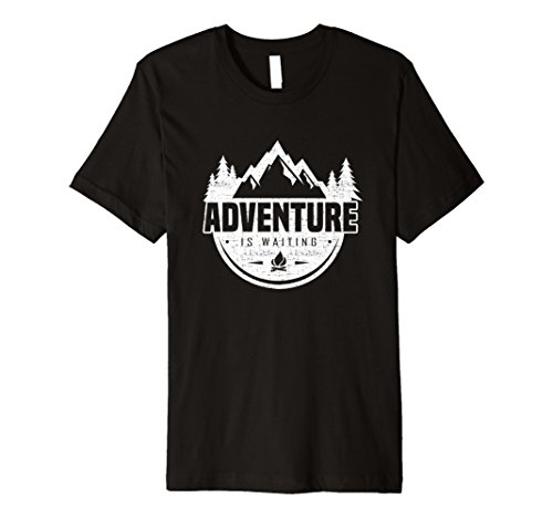 Adventure is waiting (camping, hiking, travel) t shirt