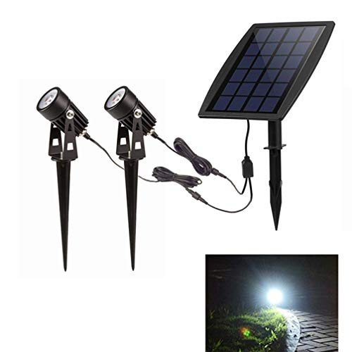 LED Landscape Solar Spot lights Waterproof Outdoor Solar Spotlight for Backyard Driveway Patio Gardens Lawn,Dusk to Dawn Auto On Off ()