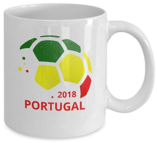 Coffee Mug - 11oz White Ceramic Tea Cup. World Football Cup Country Pride Novelty Birthday Holiday Christmas Gift. Set of 1. ()