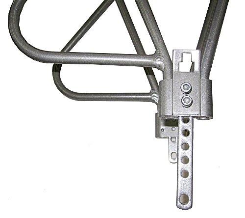 Rear Rack Aluminum 3 Leg Rear Bike Rack With Spring Silver