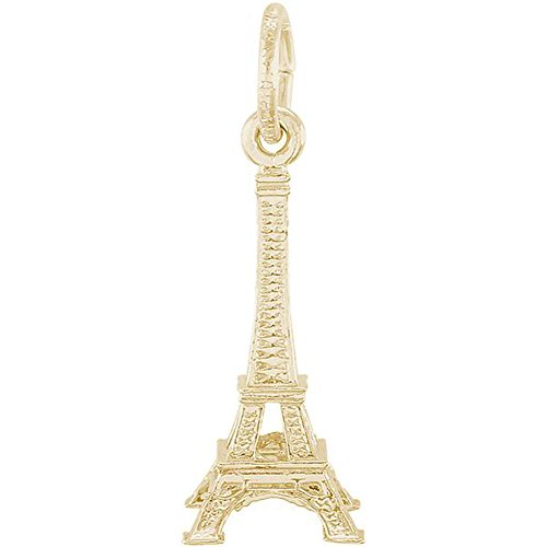 Rembrandt Charms Small Eiffel Tower Charm Pendant in Gold Silver (14Kt Yellow Gold) ()