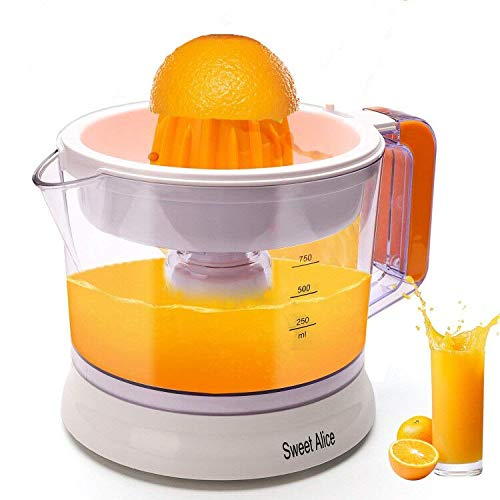 Citrus Juicer, Electric Citrus Juicer Orange Lemon Grapefruit,Juicer High Juice Extraction Anti-Drip Mechanism BPA-free (25W,0.75L)