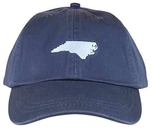Maine Made Belted Cow North Carolina Design Baseball Hat for Men and Women Navy (North Carolina Baseball Hats)