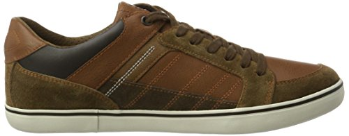 Geox Men's U Box D Low-Top Sneakers, Brown Brown (Brown/Browncotto C6f6g)
