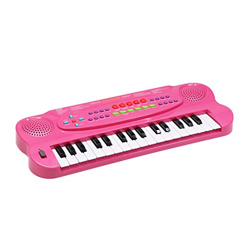 Piano for Kids, BETECHO 32 Keys Multifunction Electronic Kids Keyboard Piano Music Instrument for Toddler with Microphone (Pink) by BETECHO