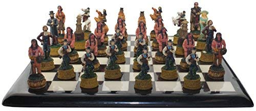 Asian Zing The Chessmen Cowboys and Indians Chess Pieces]()