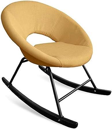 Paris Prix Fauteuil à Bascule Design en Tissu posa 77cm