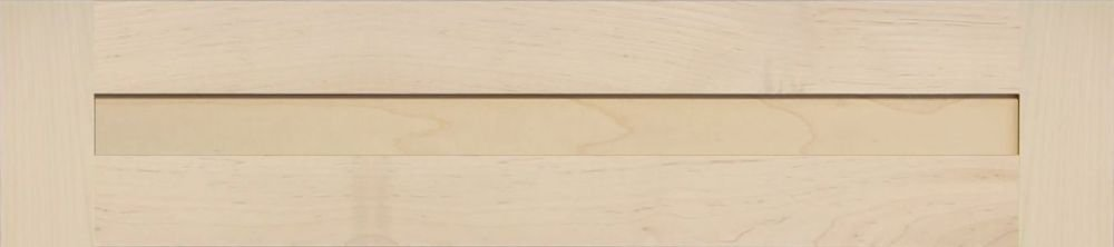 6H x 28W Unfinished Maple Flat Drawer Front with Edge Detail by Kendor