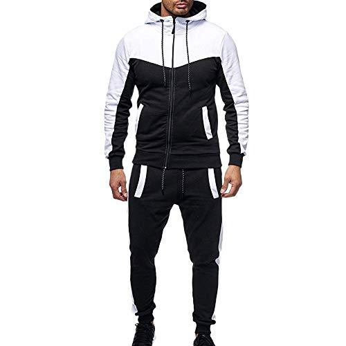 2019 New Men Tracksuits Casual Jogger Set Long Sleeve Full Zip Hoodie Sweatshirt + Joggers Pant Sportsuit - Limsea