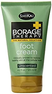 Shikai Borage Dry Skin Therapy Foot Cream, 4.2 Ounce Tube