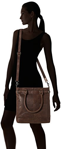 Sansibar Shopper Bag, Borse a secchiello Donna Marrone (Dark Brown)