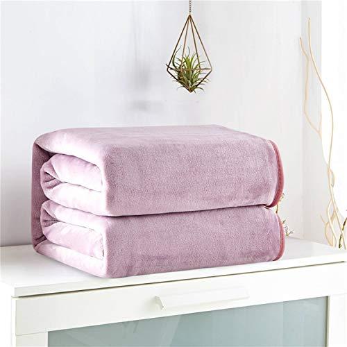 Soft Dusky Pink throw gold Geometric pattern bed sofa blanket warm 150 X 120cm