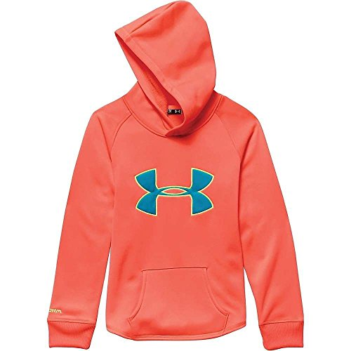Under Armour Girl's Rival Hoodie After Burn / Pacific / X Ray Small by Under Armour