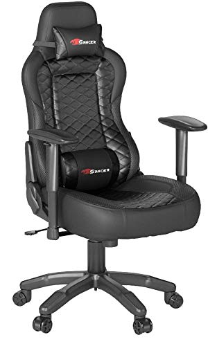 Homall Executive Swivel Leather Gaming Chair, Racing Style High-back Office Chair With Lumbar Support and Headrest (Black/PU) Homall