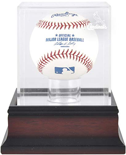 - Mounted Memories St. Louis Cardinals Single Ball Antique Mahogany Acrylic Display Case