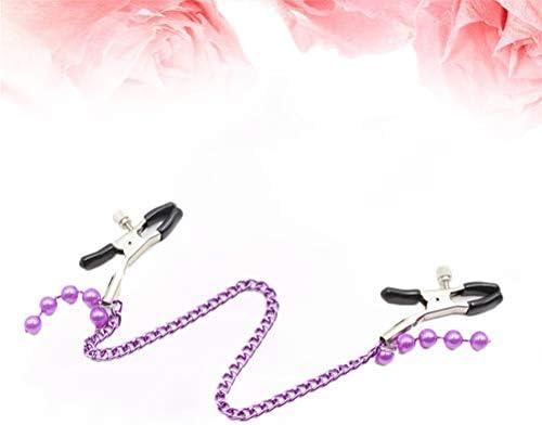 HEALLILY Brustwarzenklemmen Clip Bruststimulation Spielzeug Bachelorette für Frauen Weibliche Paar Parteibevorzugungen Liefert (Lila)