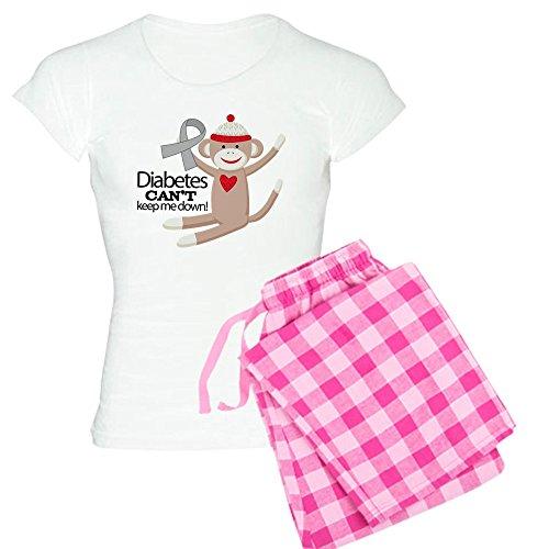 CafePress Diabetes (Sock Monkey) Womens Novelty Cotton Pajama Set, Comfortable PJ Sleepwear ()