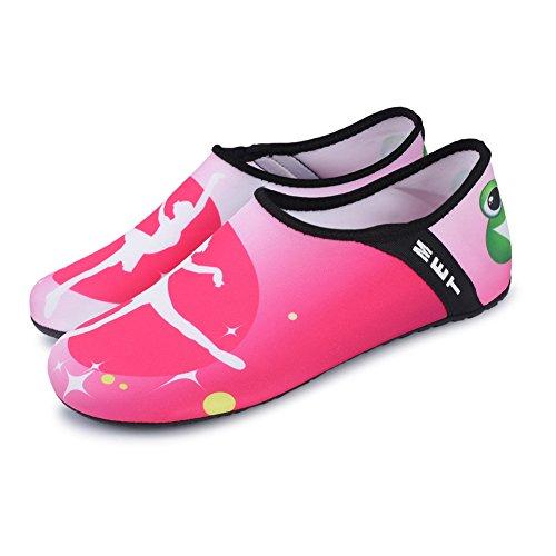 JIASUQI Unisex Outdoor Strand Pool Wasser Schuhe Aqua Socken für Frauen Männer Yoga Übung Rosa / Tanz