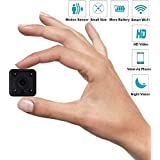C-Xka Mini Hidden Spy Camera, Home IP Camera WiFi with HD Night Vision, Motion Detection, Remote Playback, Loop Record, for Home Security Baby Elder Pet, IP Camera for iOS Android