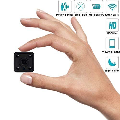 C-Xka Cámara espía WiFi Cámaras espía, mini cámara oculta con visión nocturna automática HD 1080P Niñera Cámara en...