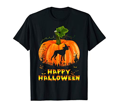 Funny Happy Halloween Boxer Dog Pumpkin T-Shirt]()