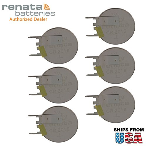Led Board Compaq - 6X Renata CR2016FV-MFR 3V Lithium Coin Battery VERT 2-PIN for PCB Compaq Armada M300 M700 CMOS/BIOS Presario 300 CR2016-WR Evo N600c Motherboard, C-MOS, S-RAM, RFID, Memory Support