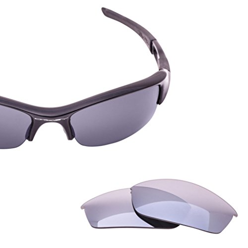 LenzFlip Replacement Lenses for Oakley FLAK Jacket Sunglasses- Gray Black Polarized with Silver Mirror - Polarized Cheap Oakleys