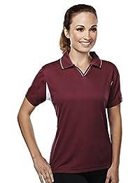Tri-Mountain Women's Comfortable Sports Waffle Knit Golf Shirt (11 colors)