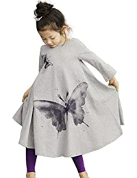 Dillian Girls Butterfly Print Dress