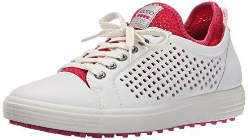 ECCO Women's Summer Hybrid Golf Shoe, White/Raspberry, 41 EU/10-10.5 M US by ECCO