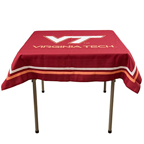 College Flags and Banners Co. Virginia Tech Hokies Logo Tablecloth or Table Overlay