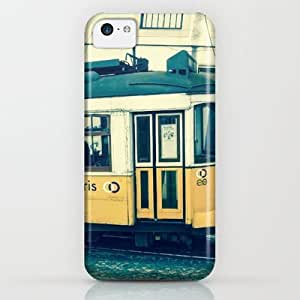 Yellow Tram iPhone & iphone 5c Case by Sandy Broenimann