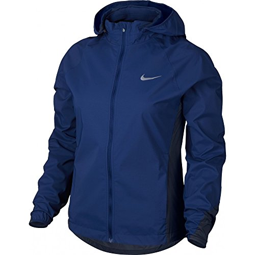 Nike Shield Women's Running Jacket (Medium, Deep Royal Blue/Obsidian)