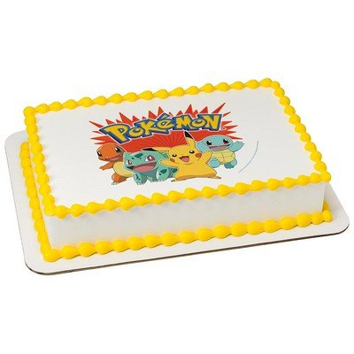 "Price comparison product image Whimsical Practicality Pokemon Bring it on Edible Icing Image,  8"" Round"