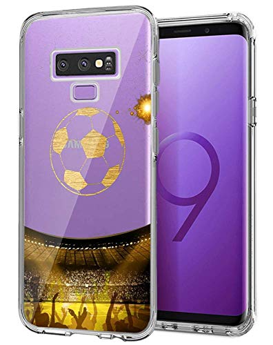 - ChyFS Phone Case for Samsung Galaxy Note 9 Football Clear Case Crystal Protective Case for Samsung Galaxy Note 9.