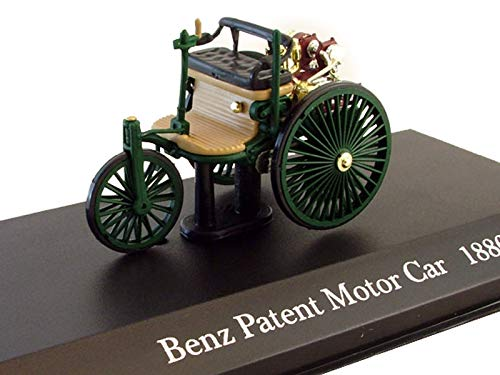 3 Wheeled Car - Benz Patent Motor Car 1886 Year German Three-Wheeled Car 1/43 Collectible Model Vehicle Single-Cylinder Engine Car by Automotive Manufacturer Mercedes-Benz