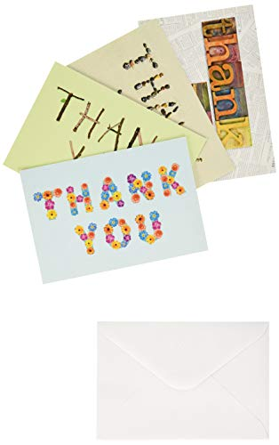 DaySpring Thank You Greeting Card with Embossed White Envelopes, 12 Count, Many Blessings/KJV Scripture Verses (74880)