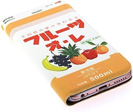 iphone x ケース 手帳型 フルーツオレ レザーケース ミルク milk スマホケース (iPhoneX用)