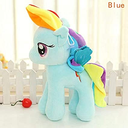 JEWH Anime Plush Unicorn Toy - Kawaii Ty Beanie Unicornio pelucia - Rainbow Pony Toys for