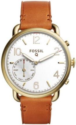 Amazon.com: Fossil Hybrid Smartwatch - Q Tailor Leather ...