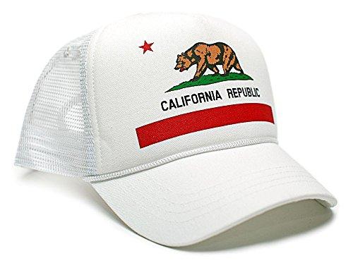 (Posse Comitatus Custom California Republic State Flag Cali Unisex-Adult Trucker Hat Multi (White/White))