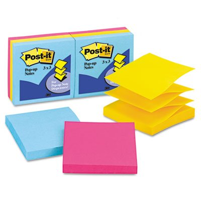 Ultra Color Refill Note (Post-it Pop-Up Ultra Color Refill Note - Pop-up, Self-adhesive, Repositionable - 3