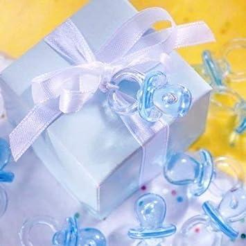 Bleu Tweal Mini Sucettes D/écorations pour Bapt/ême Douche de B/éb/é ou comme Pendentif 50pcs